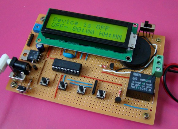 Programmable digital timer switch using a PIC Microcontroller