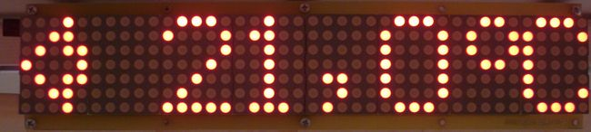 Dot matrix LED running display