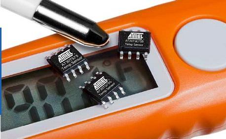 Atmel выпускает семейство цифровых датчиков температуры.