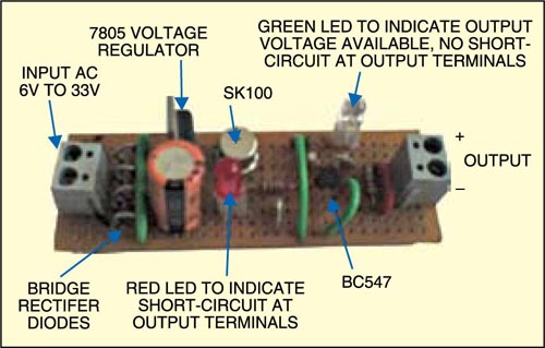 Prototype of short-circuit protection in DC low-voltage systems