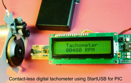 How to make a contact-less digital tachometer