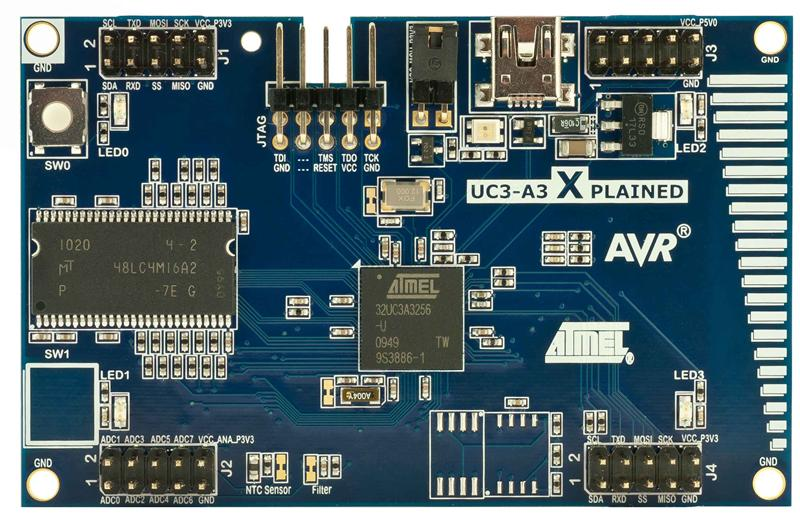 Evaliation Kit Atmel AT32UC3A3-XPLD