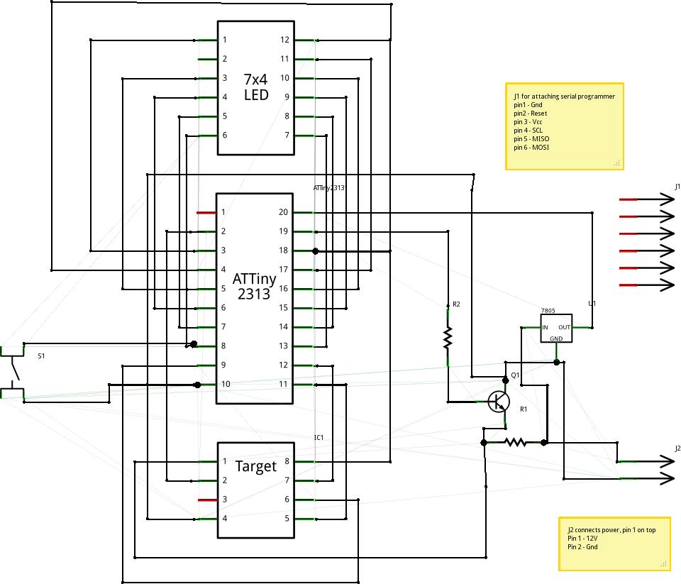 Принципиальная схема устройства для восстановления Fuse-битов