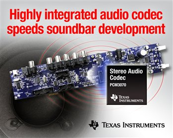 TI introduces highly integrated audio codec PCM3070