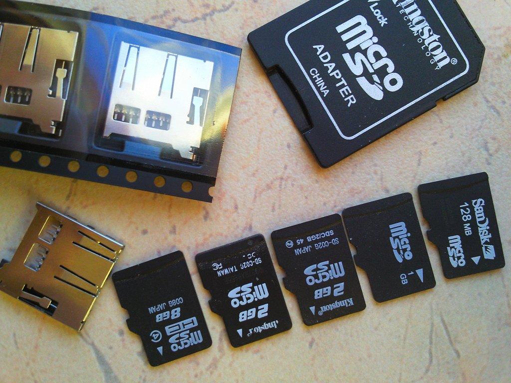 Поддерживаемые программатором µProg карты памяти