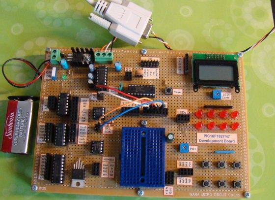 Setup for UART and I2C communication test