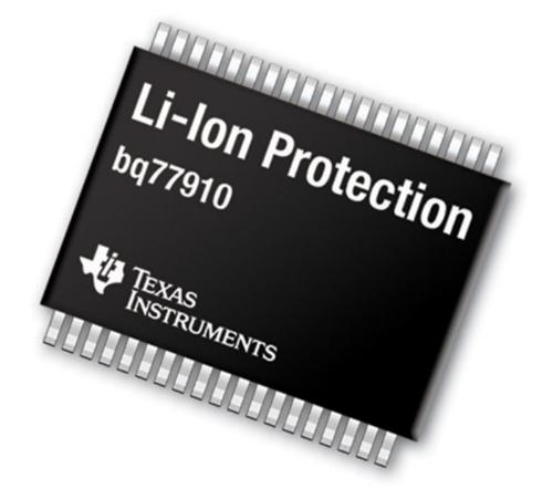 Texas Instruments: bq77910, Highly integrated, standalone device provides complete pack protection and cell-balancing for 4- to 10-cell lithium battery packs