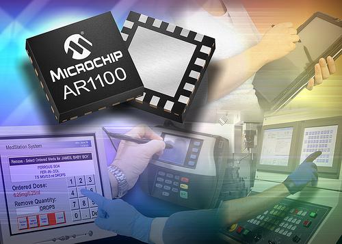 Microchip: контролер сенсорного экрана AR1100