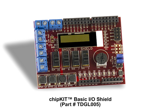 Microchip and Digilent Create Network and Basic I/O Shields