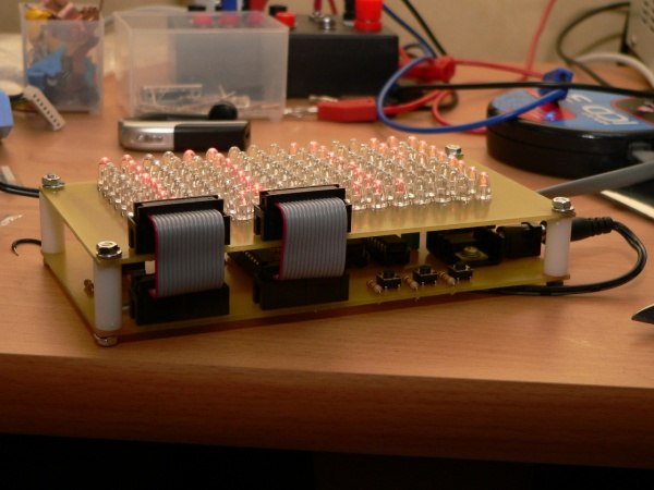 16x8 LED Matrix and controller board