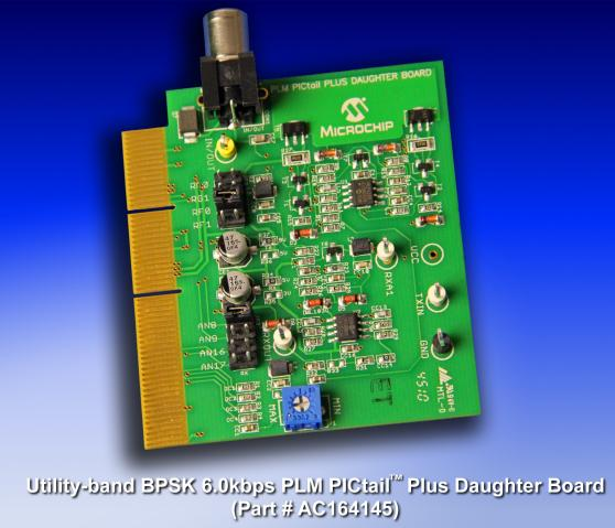 Power-Line Modem (PLM) PICtail Plus Daughter Board AC164145