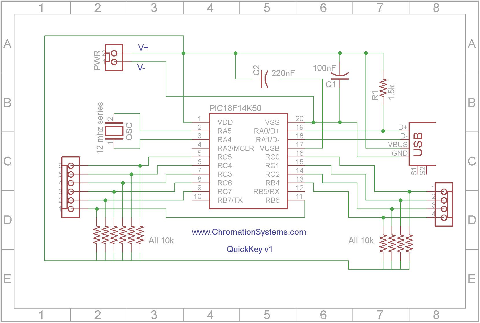 Принципиальная электрическая схема беспроводной мыши