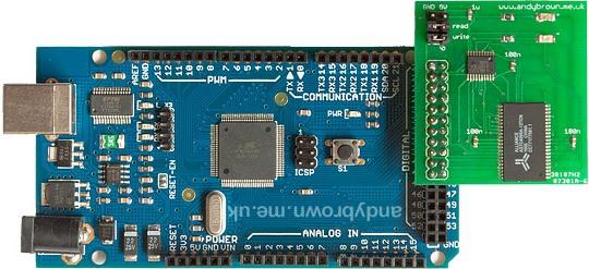 Add 512K of external SRAM to Arduino Mega