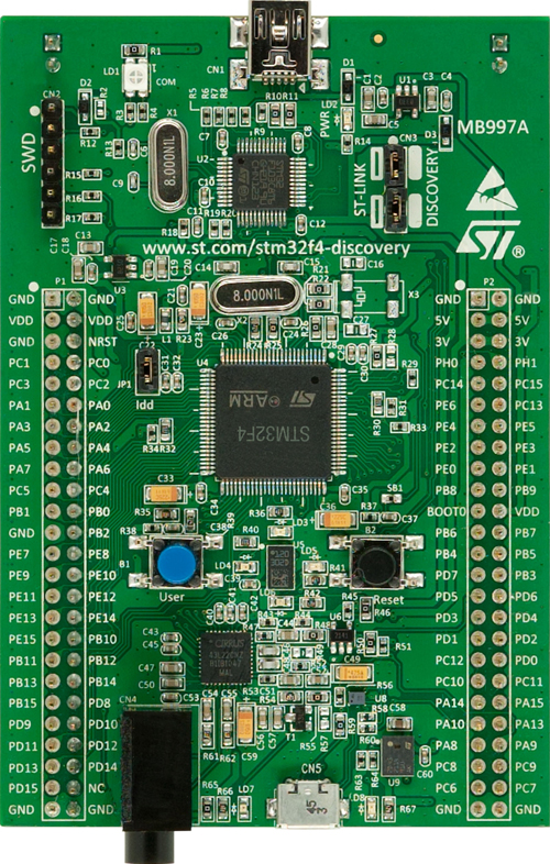 Discovery kit for STM32 F4 series STMicroelectronics STM32F4DISCOVERY