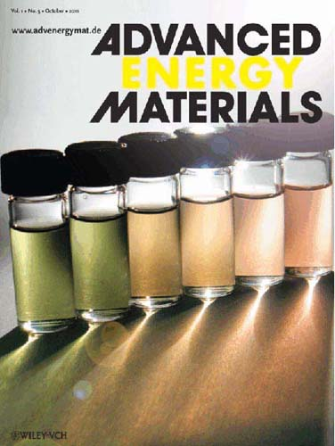 October 2011 issue of Advanced Energy Materia