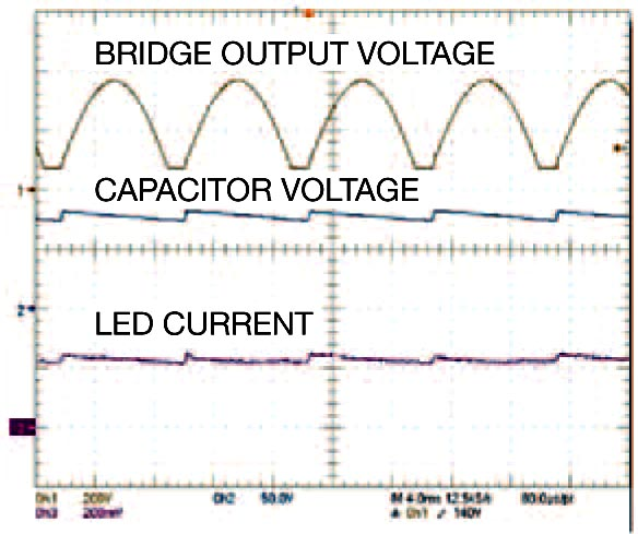 At 265V AC, the circuit has enough energy to keep C1 charged during off cycles