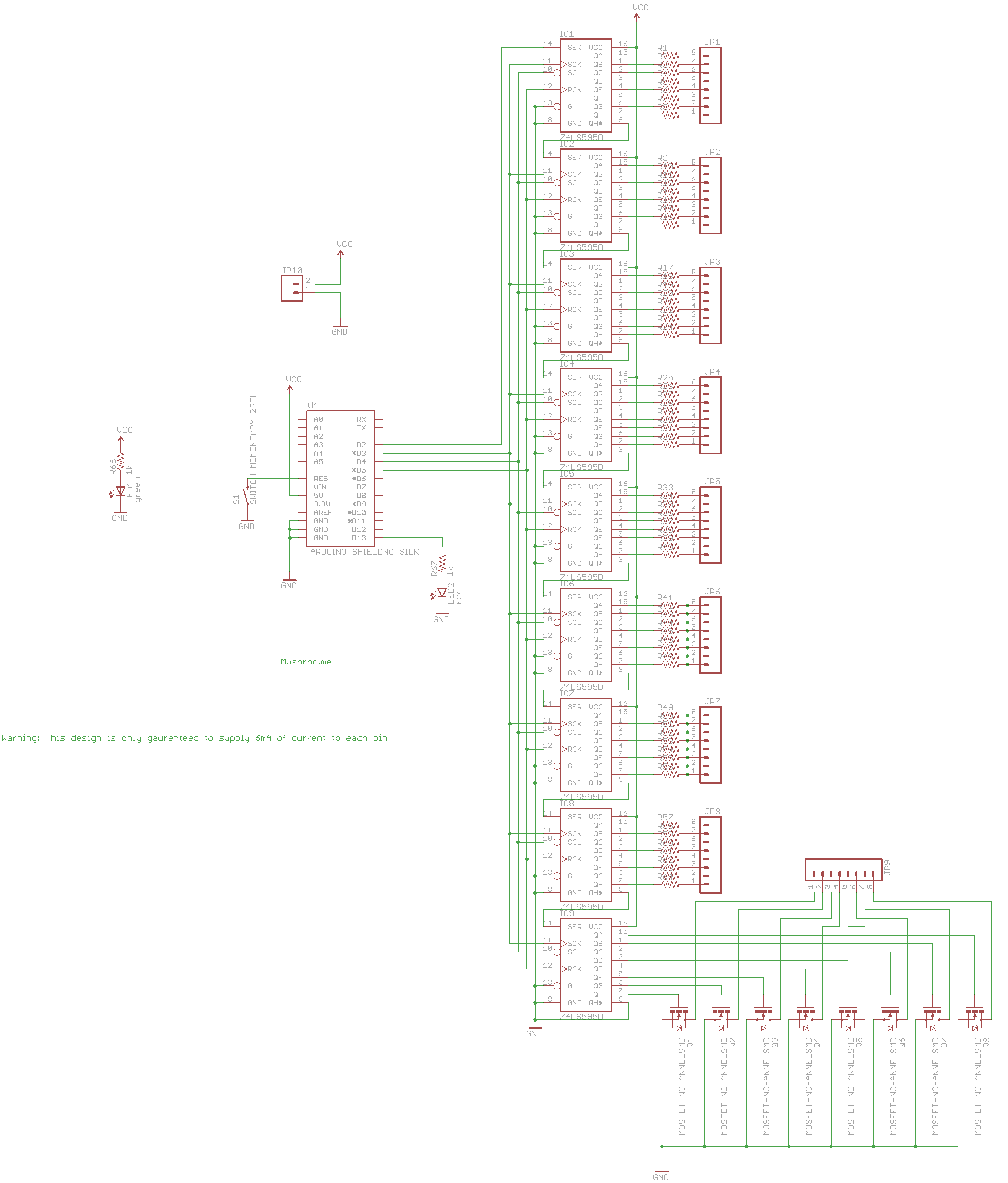 Arduino expansion board used for controlling large numbers of LEDs