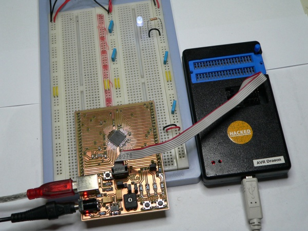 AVR ATmega32U4 USB Development Board