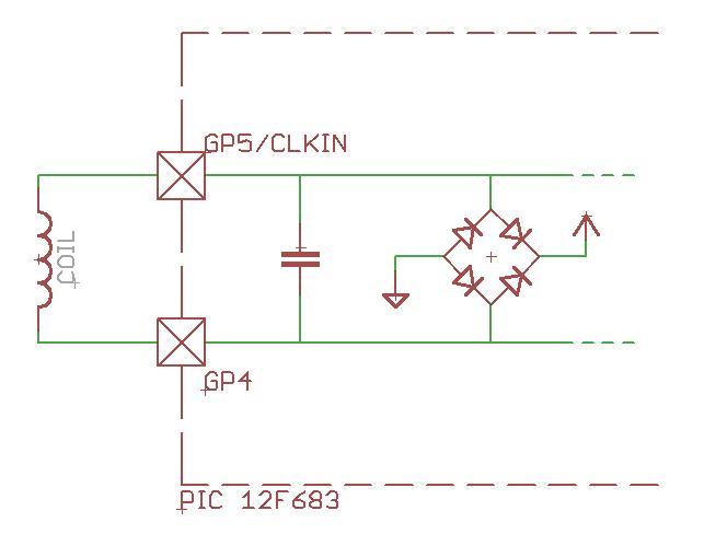 Схема RFID эмулятора с учетом внутреннего строения порта ввода/вывода