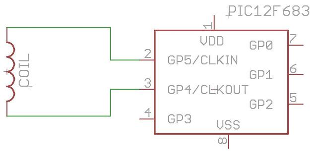 Схема RFID эмулятора на PIC микроконтроллере