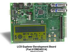 Microchip: LCD Explorer Development Board (part # DM240314)