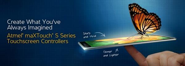Atmel выпускает контроллеры сенсорного экрана серии maXTouch S, которые позволят создавать новый класс мобильных устройств