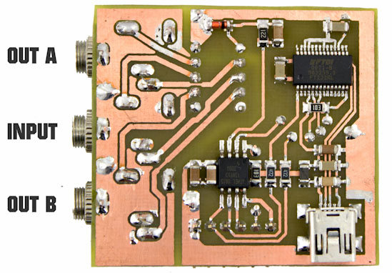 USB Audio Multiplexer PCB