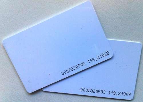 RFID карта с нанесенным серийным номером