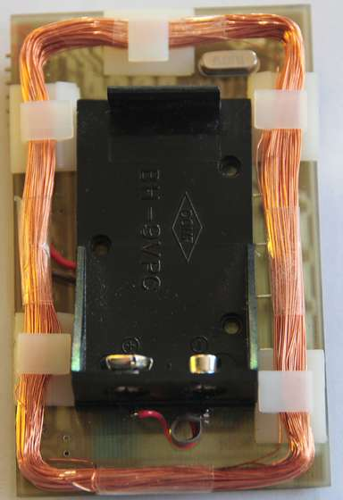 A Universal RFID Key, Coil and battery holder