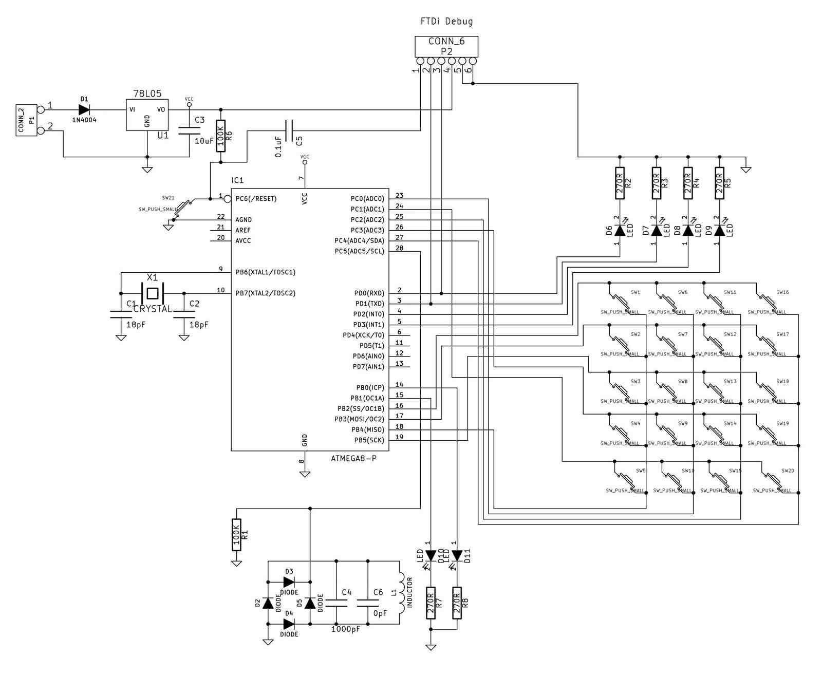 Universal RFID key, Schematic