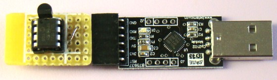 Two modules plugged into each other