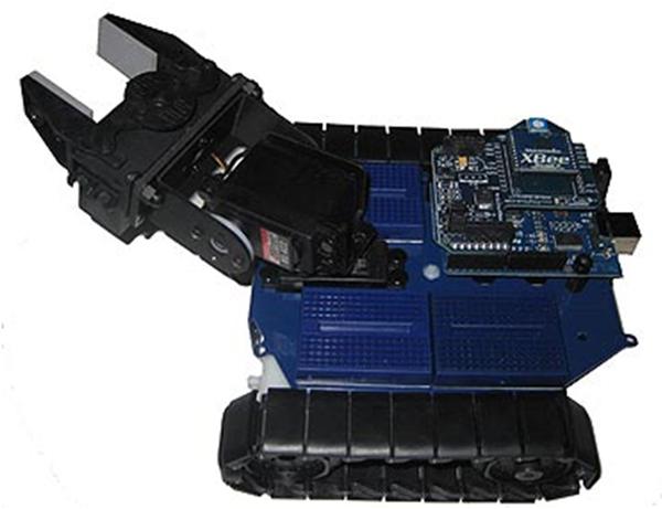 The Arduino module controlling the RobotShop Rover