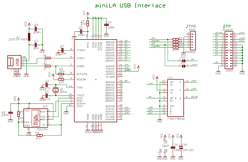 simple and cheap logic analyzer part 1 features and schematic rh radiolocman com logic state analyzer block diagram explanation