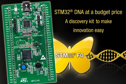 STMicroelectronics Enters Production with New STM32 F0 Microcontrollers
