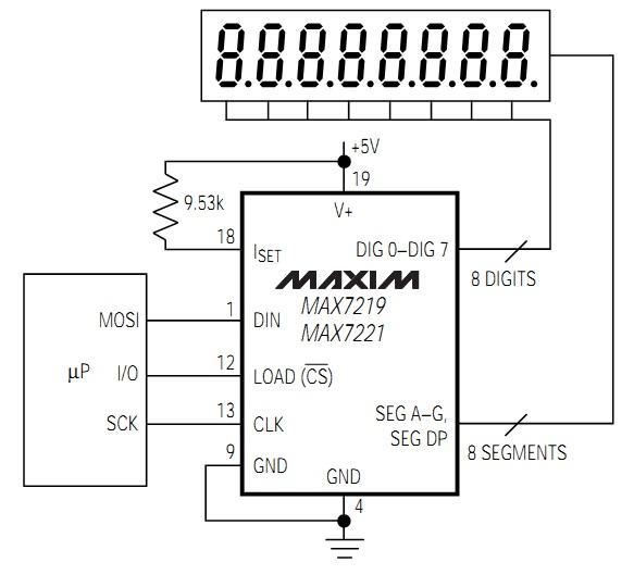 Max7219 7 segment display