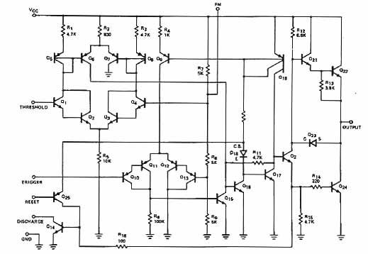 В схеме 23 транзистора,