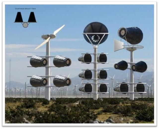 Sigma Design - Catching Wind Power Compressed Air Enclosed Wind Turbine
