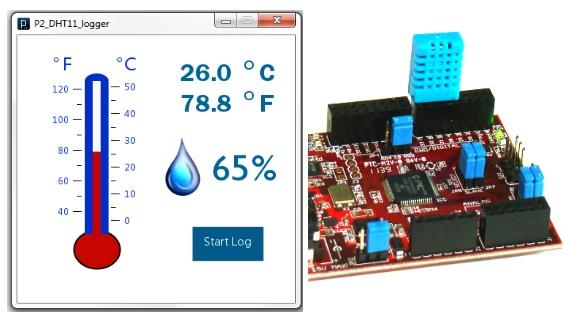 ChipKIT: измерение температуры и относительной влажности
