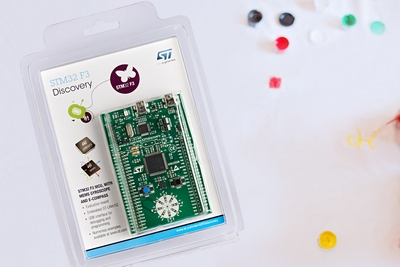 STMicroelectronics Begins Full Production of New STM32 F3 Microcontrollers and Introduces Supporting Discovery Kit with On-Board 9-Axis MEMS Sensors