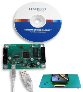 Densitron - Mono OLED displays evaluation kits