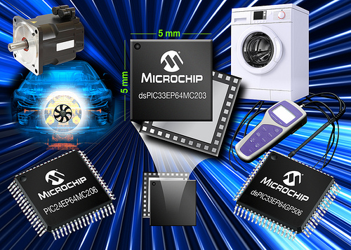 Microchip Expands 70 MIPS dsPIC33E DSCs and PIC24E MCUs With 32 KB to 256 KB Flash for Easy Memory Migration