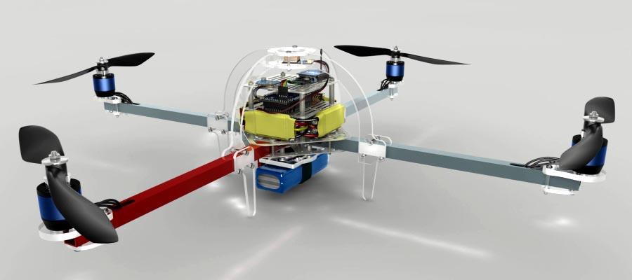 Arduino Due controls this quadcopter