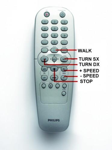 Philips Remote Control for Aeduino Robots