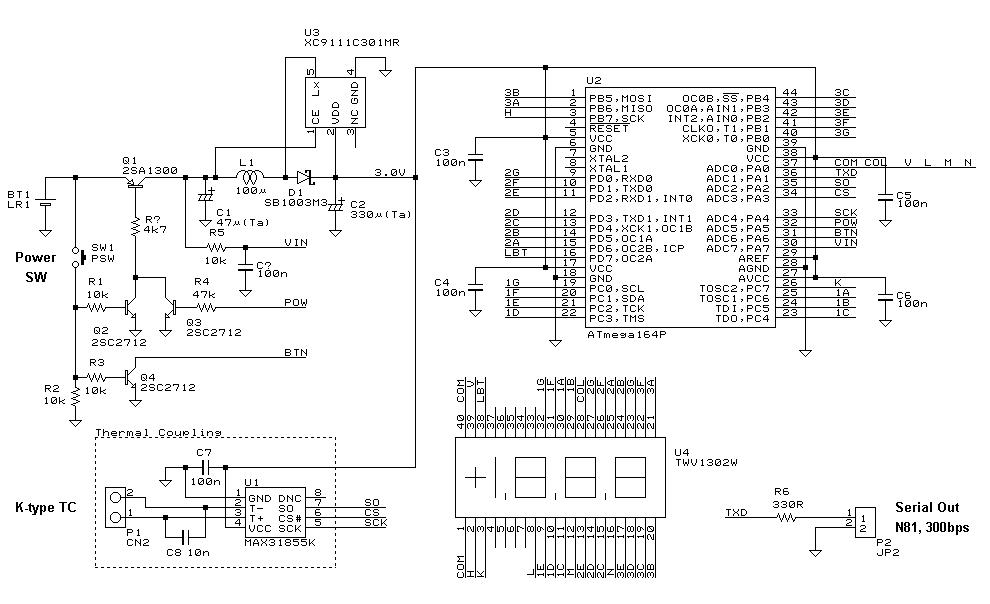 Схемы термопары типа к