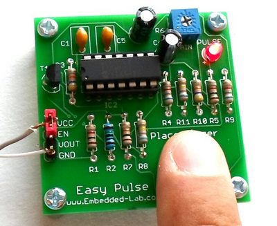 Easy Pulse: A DIY photoplethysmographic sensor for measuring heart rate