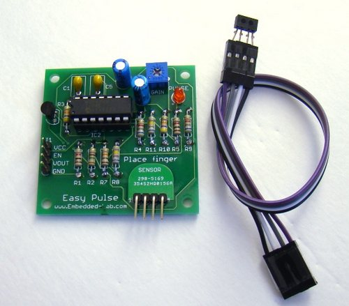 Easy Pulse: A DIY photoplethysmographic sensor for measuring heart rate.