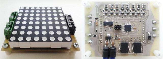 Макет индикатора прохода на двухцветной LED матрице