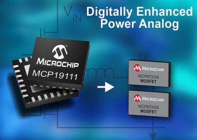 Microchip Technology Inc., announced its MCP19111, the world's first Digitally Enhanced Power Analog controller