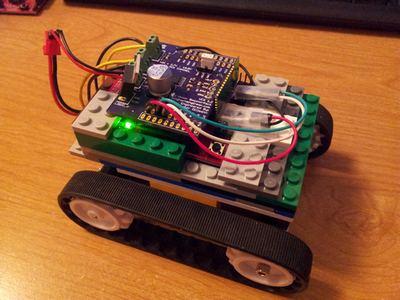 Внешний вид модели танка с управлением по Bluetooth