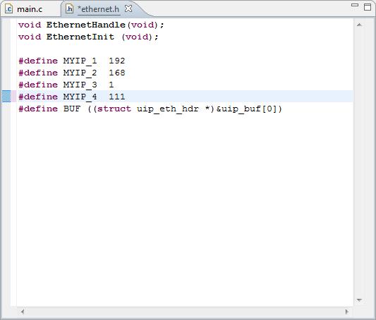 Modifying the IP-address of the Simplecortex